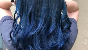 blue black hair