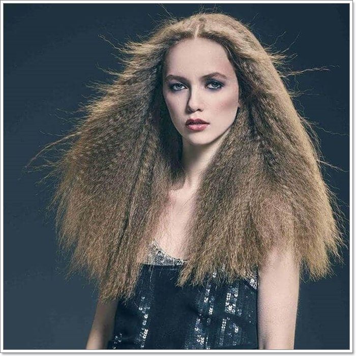 102 Outstanding Crimped Hair That You Will Love Stylying